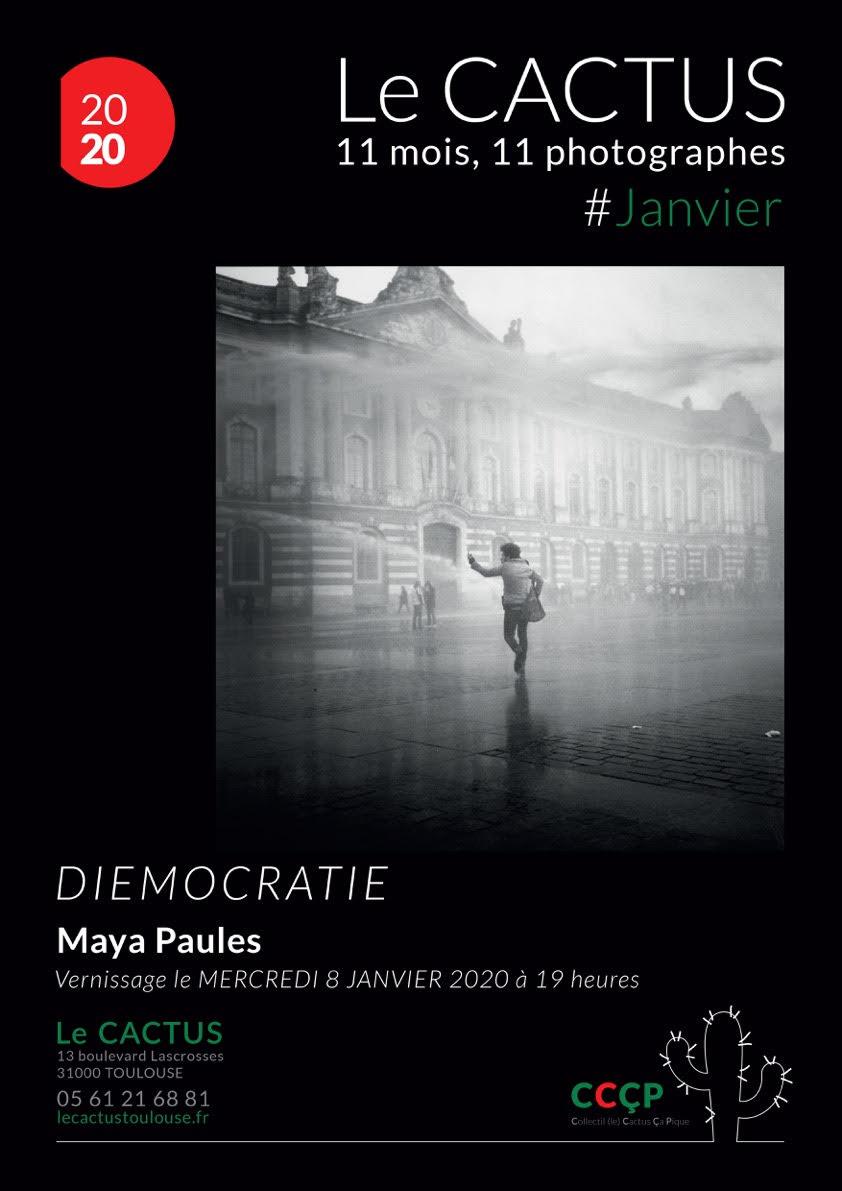 """Affiche """"Diemocratie"""" Maya Paules - Collectif le Cactus Ça Pique"""